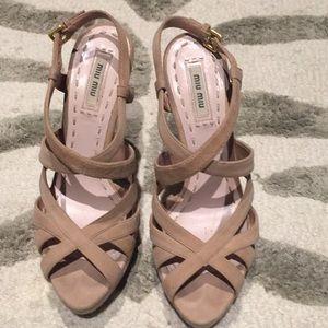 Miu Miu platform sling back shoes